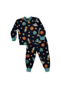 Pijama Infantil Inverno Soft Estampado Universo