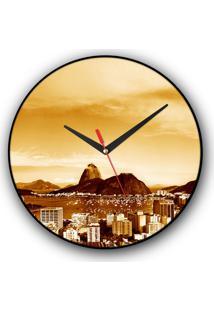 Relógio De Parede Colours Creative Photo Decor Decorativo, Criativo E Diferente - Vista Do Pão De Açúcar No Rio De Janeiro