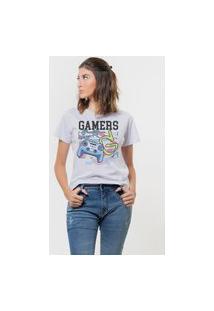 Camiseta Jay Jay Basica Gamers Start Color Branca Dtg