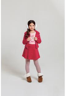 Jaqueta Time Kids Inverno Comfy Vermelho - Tricae