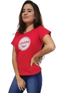 Camiseta Feminina Cellos Bowl Premium Vermelho - Kanui