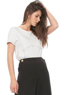 Camiseta Forum Pespontos Off-White - Kanui