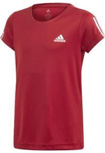 Camiseta Infantil Adidas Tr Eq Yg Feminina - Feminino-Vermelho