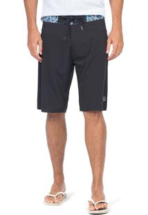 Boardshort Surf Stretch Asteca Preto