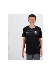 Camisa Santos Chain Infantil Preta