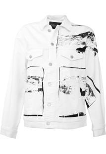Jaqueta Sarja Calvin Klein Jeans Andy Warhol Branca