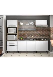Cozinha Compacta Itamaxi 8 Pt 3 Gv Branca E Castanho