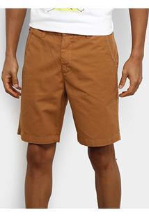Bermuda Reserva Sarja Slim Fit Color Masculina - Masculino