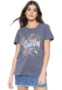 Camiseta Colcci Reta Tropical Azul