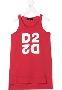 Dsquared2 Kids Regata Com Estampa D2D2 - Vermelho