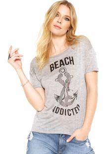 Camiseta Letage Beach Cinza