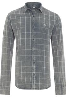 Camisa Masculina Edgar - Cinza