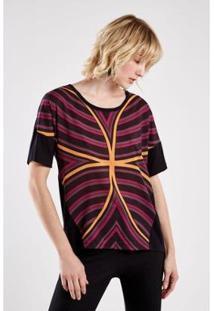 Camiseta Sacada Malha Est Optical Feminina - Feminino