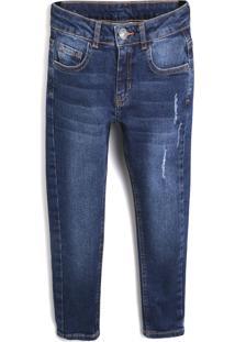 Calça Jeans Milon Menino Lisa Azul