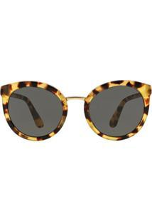Óculos De Sol Dolce   Gabbana Redondo Dg4268 Feminino - Feminino-Marrom 607b1c0c61