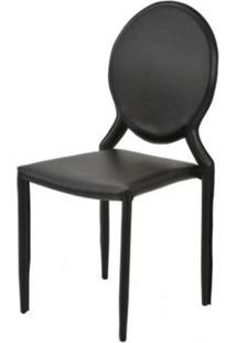 Cadeira Amanda Medalhao 6606 Em Metal Pvc Preto - 32872 - Sun House