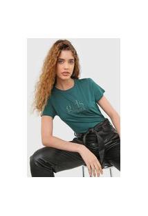 Camiseta Colcci Bordada Verde