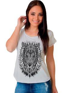 Camiseta Shop225 Leão Tattoo Branco
