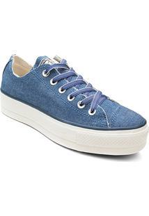 Tênis Converse Chuck Taylor All Star Platform Feminino - Feminino-Azul