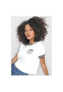 Camiseta Aeropostale Frisos Branca
