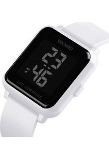 Relógio Skmei Digital - Unissex-Branco