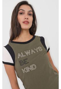 Camiseta Dzarm Lettering Verde