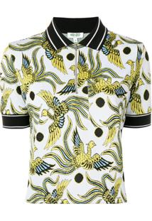 Kenzo Camisa Polo 'Flying Phoenix' - Branco