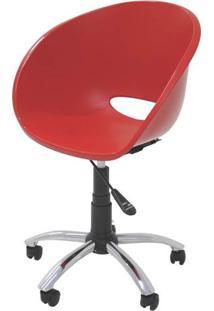 Cadeira Elena Com Rodizio Cor Vermelho - 21709 - Sun House