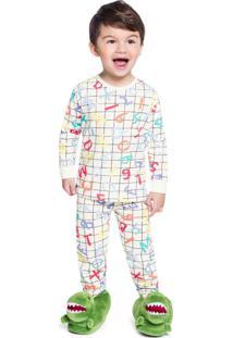 Pijama Infantil Menino Off White