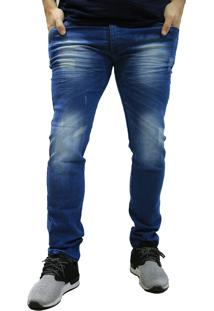 Calça Jeans Elite Lux Slim Reta Azul