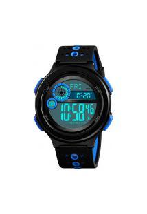 Relógio Skmei Digital -1375- Preto E Azul