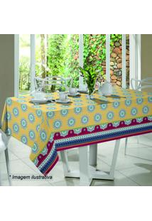 Toalha De Mesa Royal Mystic- Amarela & Azul- 210X140Santista