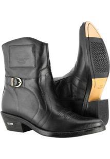 Bota Texana Hb Agabe Boots Masculina - Masculino-Preto