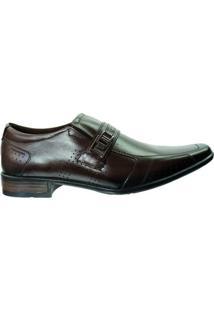 Sapato Social Pegada Anilina Levitech Vegetal - Masculino-Marrom