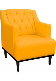 Poltrona Decorativa Clã¡Ssica Capiton㪠Suede Amarelo - Ds Mã³Veis - Amarelo - Dafiti