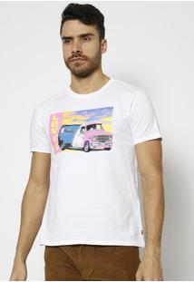 Camiseta Levi'Sâ® - Branca & Rosa Neonlevis