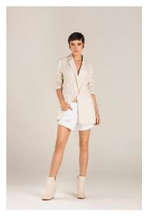 Shorts Comfort Tinturado Branco 44