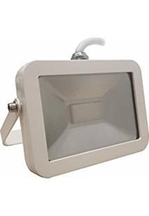 Refletor Holofote Led Slim Smd 20W Ip65 Branco