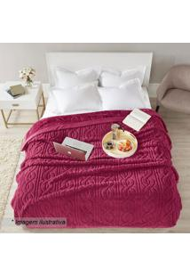 Cobertor Cervinia Home Design King Size- Bordô- 240Xcorttex