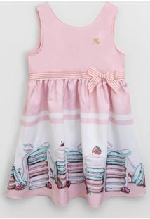 Vestido Milon Infantil Macarons Rosa