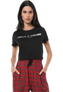 Camiseta Cropped Cavalera Dream Preta