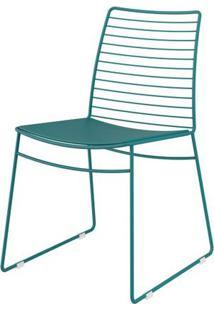 Cadeira 1712 Cor Turquesa Com Assento Courissimo Turquesa - 27679 - Sun House