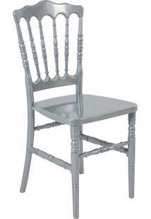 Cadeira De Jantar Dior Resina Prata