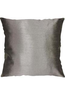 Capa De Almofada Shantung- Cinza Escuro- 45X45Cmniazitex