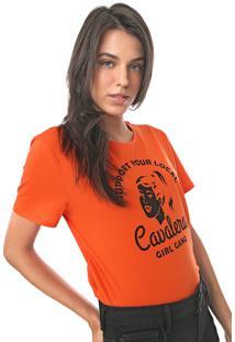 Camiseta Cavalera Girl Gang Laranja