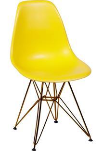 Cadeira Com Base Em Cobre 1102-Or Design - Amarelo
