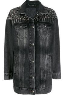 Philipp Plein Jaqueta Jeans Gothic - Cinza