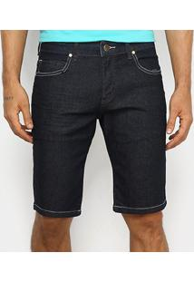 Bermuda Jeans Wrangler Com Elastano Masculina - Masculino-Azul