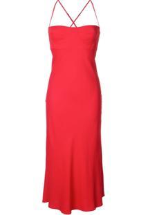 Michelle Mason Vestido Midi - Vermelho