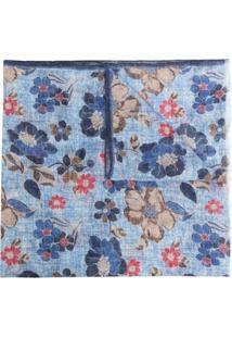 Lady Anne Echarpe Giglio Com Estampa Floral - Azul